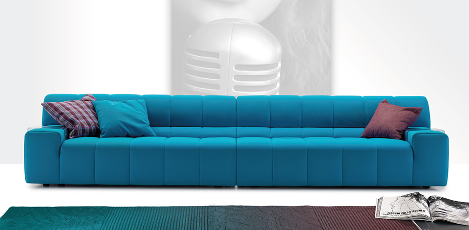 colorful italian sofa