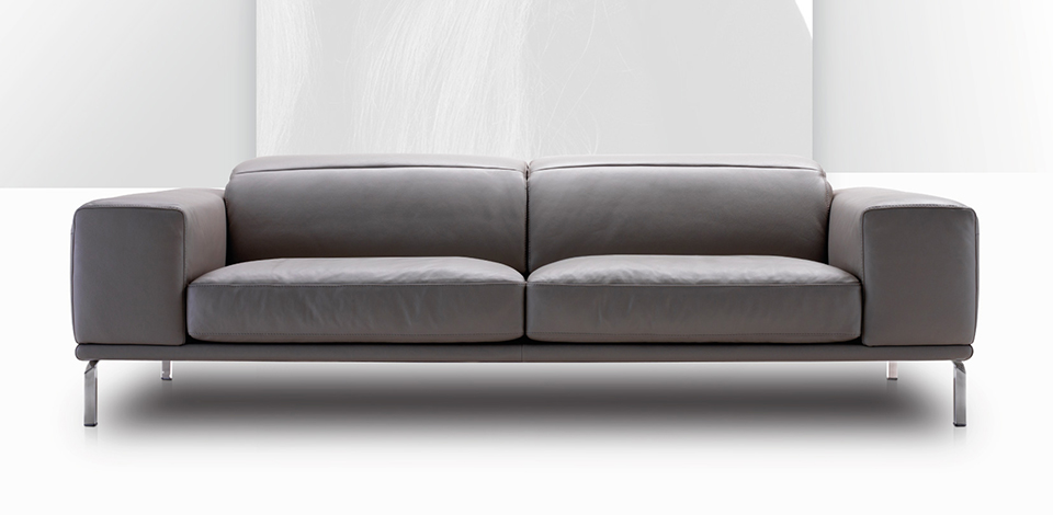 gray leather couch