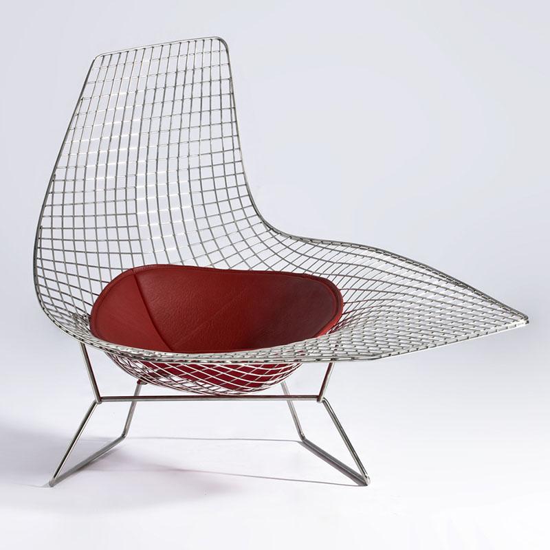 Mid Century Modern Wire Lounge Chair