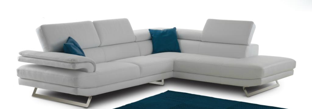 White Leather Nicoline Sofa