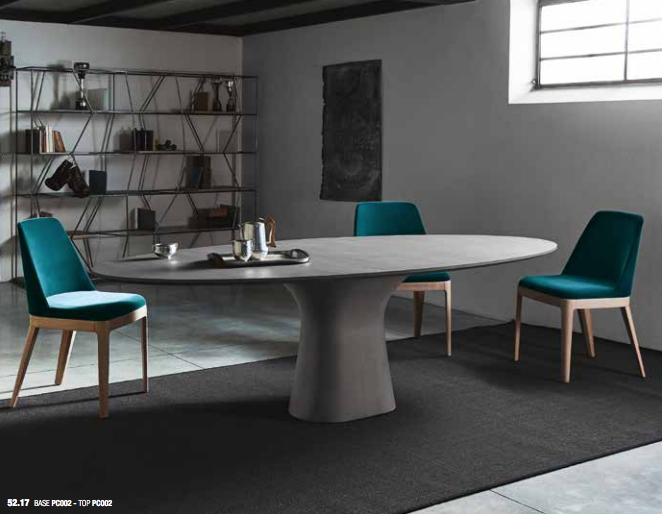 Concrete Oval Dining Table